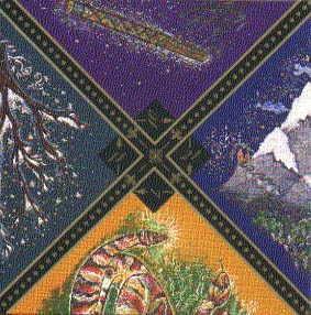 마치 퍼즐 조각과 같은 러시안 집시 타로는, 각 카드마다 4조각의 이미지가 있습니다. 이 카드는 다시 여러장이 모여 거대하고 아름다운 하나의 이미지를 만들어냅니다.